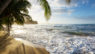 Pacific Ocean coast in Costa Rica